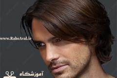 113-مدل موی صاف و لند مردانه